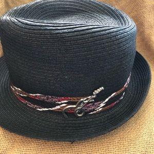 14c8ea783 Carlos Santana straw hat with guitar pin